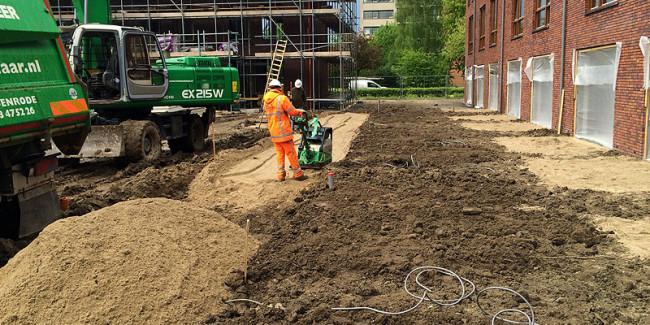 Grond-, riool-, en straatwerk voor 49 woningen Arnhem