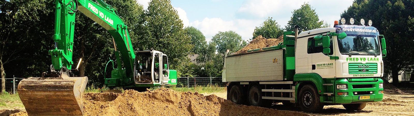Verhuur van grondverzetmachines en minigravers door Fred van de Laar uit Sint-Oedenrode